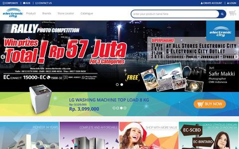 Screenshot of Home Page electronic-city.com - Electronic City - Toko Elektronik Online Aman dan Terpercaya - captured Jan. 24, 2016