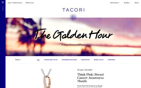The Golden Hour | An escape into the world of Tacori