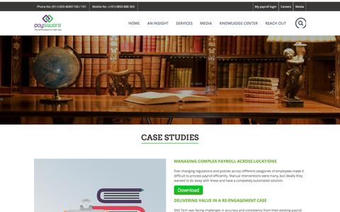 Screenshot of Case Studies Page paysquare.com - Case Studies | Paysquare - captured July 18, 2017