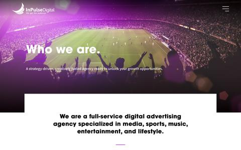 Screenshot of About Page inpulsedigital.com - About - Meet our Miami, Mexico & Latin America Team - InPulse Digital - captured July 12, 2019