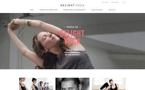 Screenshot of Home Page delightyoga.nl - Delight Yoga Amsterdam - captured Nov. 10, 2015