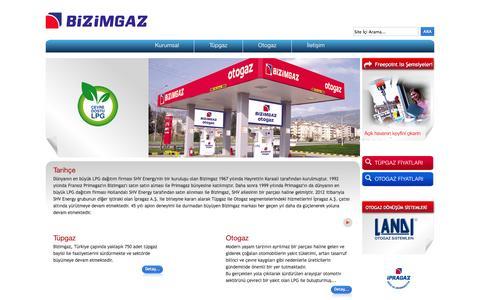 Screenshot of Home Page bizimgaz.com.tr - Bizimgaz - captured Oct. 5, 2014