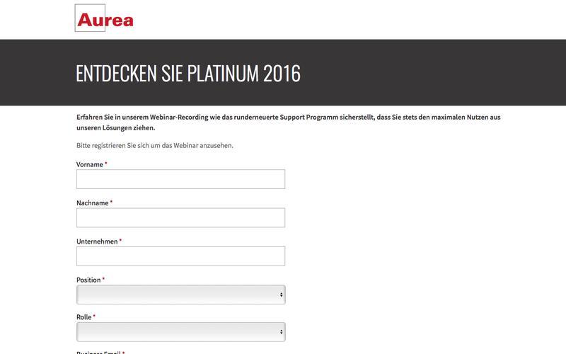 Webinar Recording: Aurea Platinum 2016 | Aurea