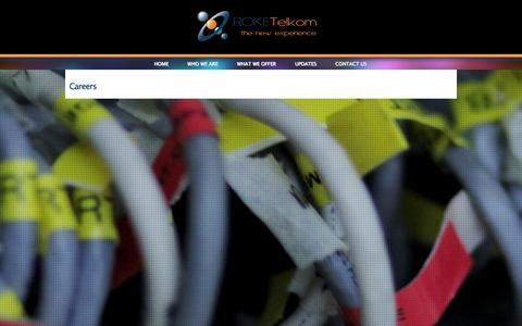 Screenshot of Jobs Page roketelkom.co.ug - Careers | Roke Telkom - captured Nov. 5, 2014