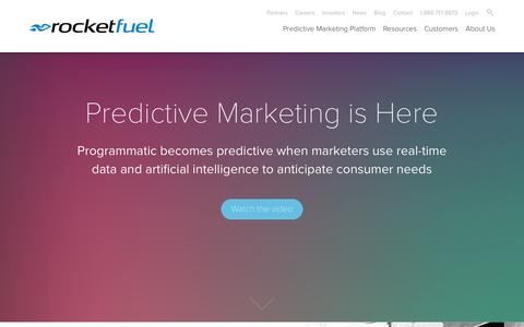Rocket Fuel | Predictive Marketing Platform