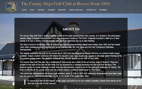 Screenshot of About Page countysligogolfclub.ie - Club - About Us - The County Sligo Golf Club - captured Oct. 27, 2014