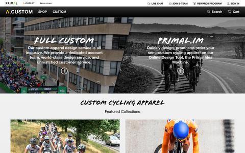 Screenshot of Products Page primalwear.com - Custom – Primal Wear - captured Nov. 5, 2018