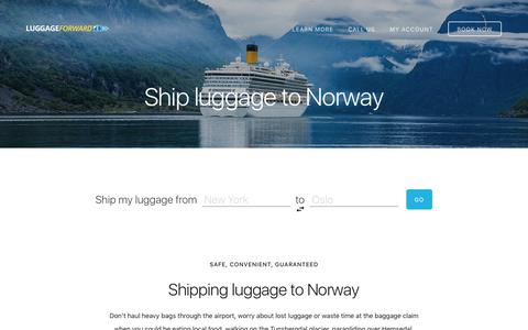 Ship Luggage to Norway - Guaranteed by Luggage Forward®