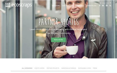 Screenshot of Blog ecoscraps.com - EcoScraps - Blog - captured Dec. 12, 2015