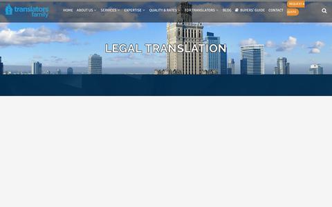 Screenshot of Terms Page translatorsfamily.com - Certified Legal Translation Services | Translators Family - captured Oct. 20, 2018