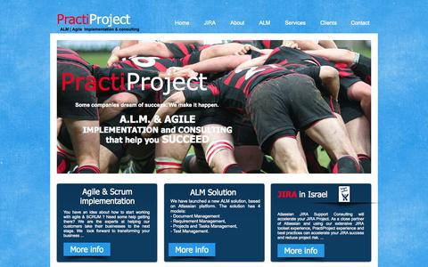 Screenshot of Home Page practiproject.com - practiproject - captured Sept. 30, 2014