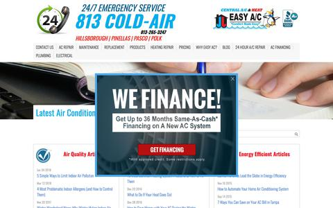 Screenshot of Blog easyac.net - Air Conditioning Articles | Easy AC - captured July 15, 2018