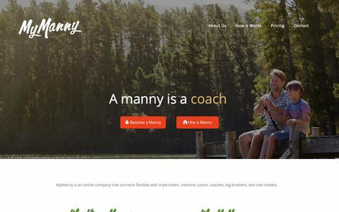 Screenshot of Home Page mymanny.com - MyManny - captured Sept. 3, 2015