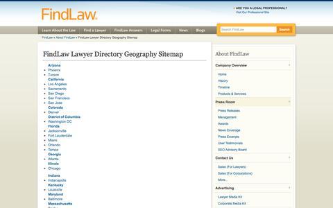 FindLaw Lawyer Directory Geography Sitemap - FindLaw