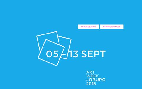 Screenshot of Home Page artweek.co.za - ART WEEK - captured Oct. 12, 2015