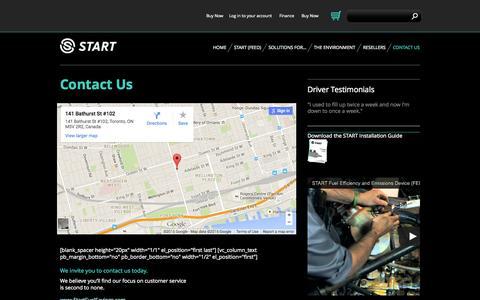 Screenshot of Contact Page startfuelsavings.com - We at startfuelsavings.com Are Happy to Serve You | Start - captured Aug. 13, 2015