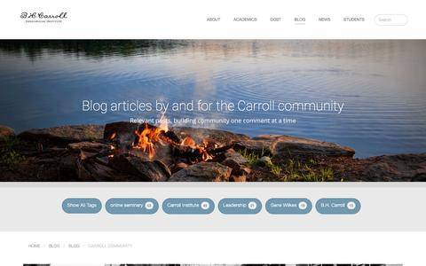 Screenshot of Blog bhcarroll.edu - Blog  –  B. H. Carroll Theological Institute - captured Jan. 27, 2016