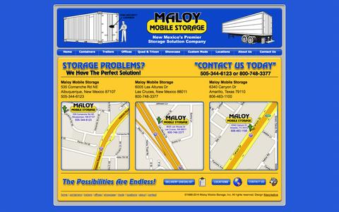 Screenshot of Locations Page maloystorage.com - Maloy Mobile Storage - Maloy Mobile Storage Locations - captured Oct. 4, 2014