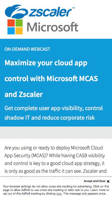 Microsoft MCAS I Zscaler rather than Office 365   Zscaler