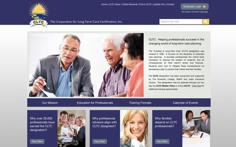Screenshot of Home Page ltc-cltc.com - The Corporation for Long-Term Care Certification, Inc. - Homepage - captured Oct. 6, 2016