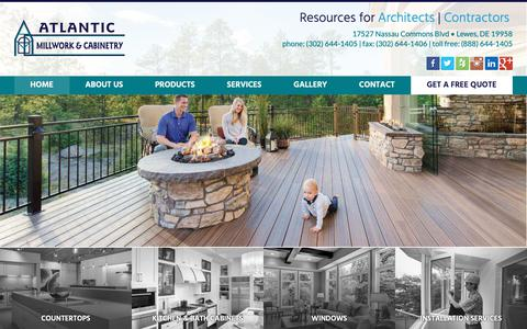 Screenshot of Home Page atlanticmillwork.com - Atlantic Millwork & Cabinetry | Lewes, DE - captured Oct. 4, 2018