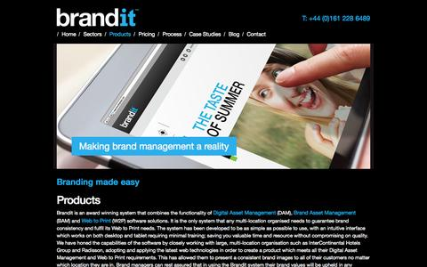Screenshot of Products Page branditglobal.com - Products | Brandit - captured Sept. 30, 2014
