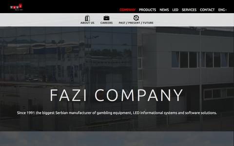 Screenshot of About Page Jobs Page fazi.rs - FAZI - captured Sept. 29, 2016