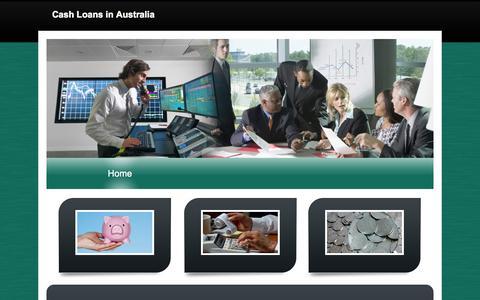 Screenshot of Home Page c31.com.au - Cash Loans in Australia - captured Oct. 8, 2014