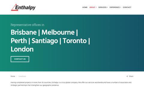 Screenshot of Locations Page enthalpy.com.au - Locations - Enthalpy - captured Nov. 5, 2018