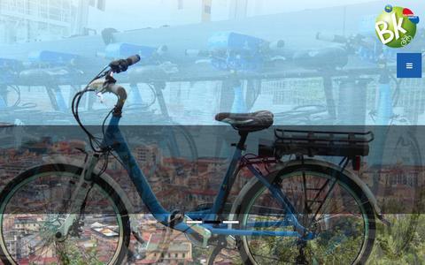 Screenshot of Home Page bicincentro.it - Bike sharing Salerno | Mobilità a costo zeroBKS | Bike sharing Salerno | noleggio biciclette | Il servizio delle bici pubbliche a Salerno - captured Jan. 26, 2015