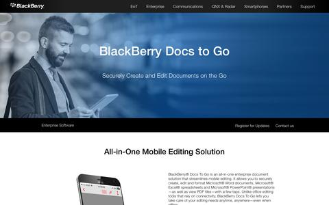 Microsoft Office Mobile Editing – BlackBerry Docs to Go - United States