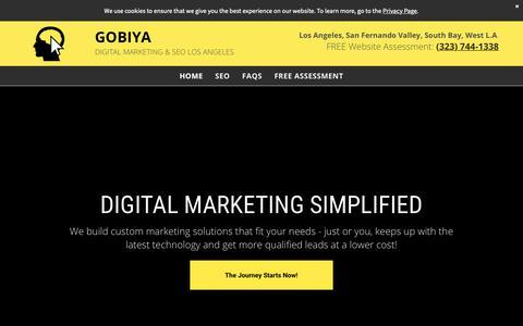 Screenshot of Home Page gobiya.com - Digital Marketing & SEO Company | Gobiya✨ - captured April 17, 2019