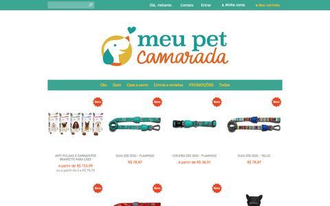 Screenshot of Home Page meupetcamarada.com - Meu Pet Camarada - captured Jan. 10, 2016
