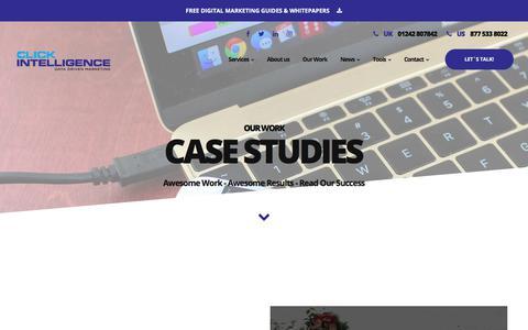 Screenshot of Case Studies Page clickintelligence.co.uk - Click Intelligence SEO Campaign Case Studies - Click Intelligence - captured July 20, 2019
