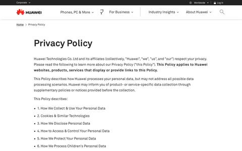 Privacy Policy - Huawei