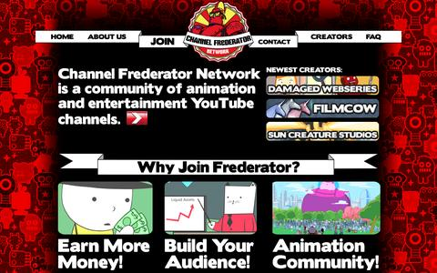 Screenshot of Signup Page frederator.com - Channel Frederator Network - captured Nov. 12, 2016