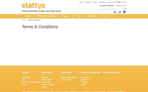 Screenshot of Terms Page stattys.com - Terms & Conditions - captured Oct. 13, 2017