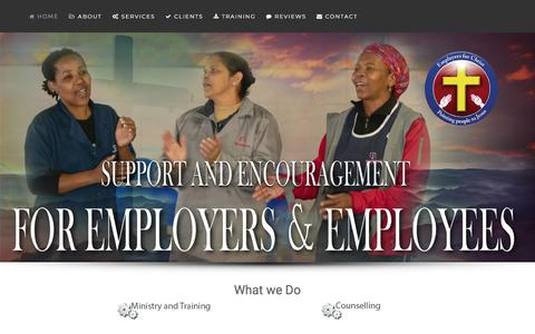 Screenshot of Home Page employersforchrist.co.za - Home - captured July 18, 2018