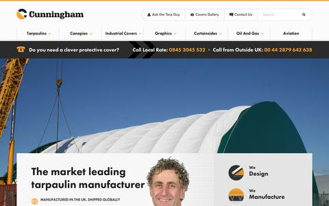 Screenshot of About Page cunninghamcovers.co.uk - About Us | Cunningham Covers Tarpaulin Manufacturers - Cover Solutions - captured Nov. 14, 2016