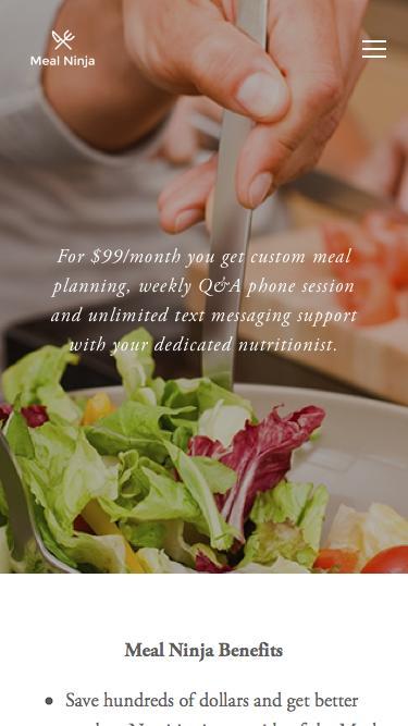 Screenshot of Pricing Page  mealninja.com - Pricing — Meal Ninja