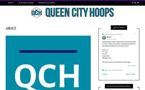 Screenshot of About Page queencityhoops.com - ABOUT - Queen City Hoops - captured Nov. 19, 2018