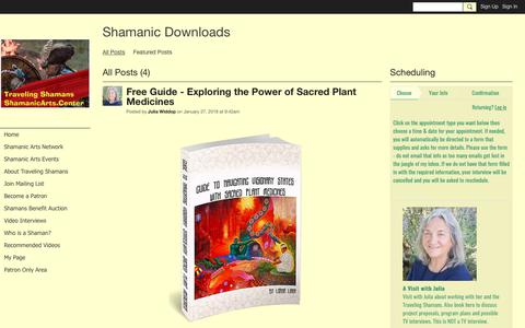 Screenshot of Press Page ning.com - All Posts - Shamanic Downloads - Shamanic Arts Center - captured Nov. 3, 2018