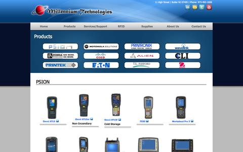 Screenshot of Privacy Page Products Page millennium-tech.com - Millennium Technologies Products - captured Oct. 26, 2014