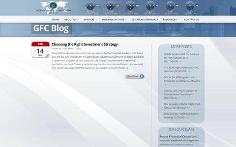 Screenshot of Blog gfcadvice.com - Global Financial Consultants » Blog - captured Nov. 1, 2014