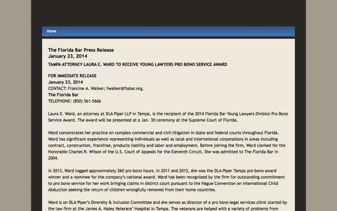 Screenshot of Press Page laurawardforjudge.com - News - Elect Laura Ward for Circuit Court Judge - captured Oct. 2, 2014