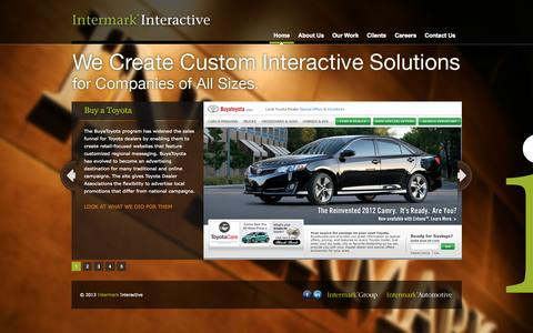Screenshot of Home Page intermarkinteractive.com - Intermark Interactive - A Leading Interactive Marketing Agency In Birmingham, Alabama - captured Sept. 6, 2015