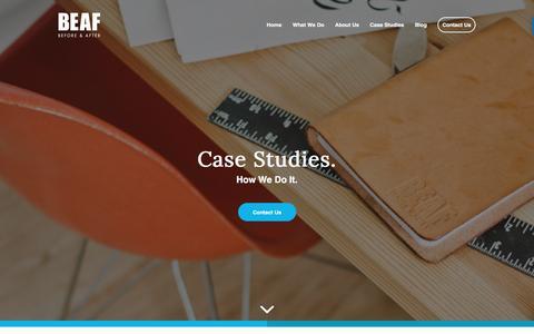 Screenshot of Case Studies Page beaf.com - Case Studies - BEAF - captured May 31, 2017