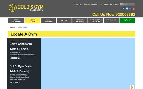 Screenshot of Signup Page ggarabia.com - Locate A Gym - Gold's Gym Arabia: The Ultimate Fitness Experience. - captured Sept. 29, 2018