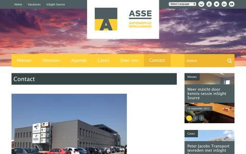 Screenshot of Contact Page asse.nl - Contact | ASSE BV - captured Oct. 7, 2017