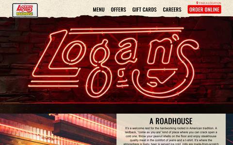 Screenshot of About Page logansroadhouse.com - Steak, Nashville Spirit, Drinks & More - Logan's Roadhouse - captured Sept. 27, 2018